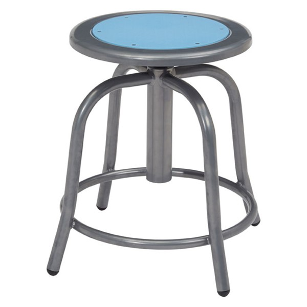 NPS 6800 Grey Blueberry Wood Adjustable Height Swivel Stool NPS-6805-02