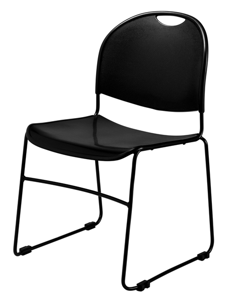 NPS 850 Black Commercialine Ultra Compact Stack Chair NPS-850-CL