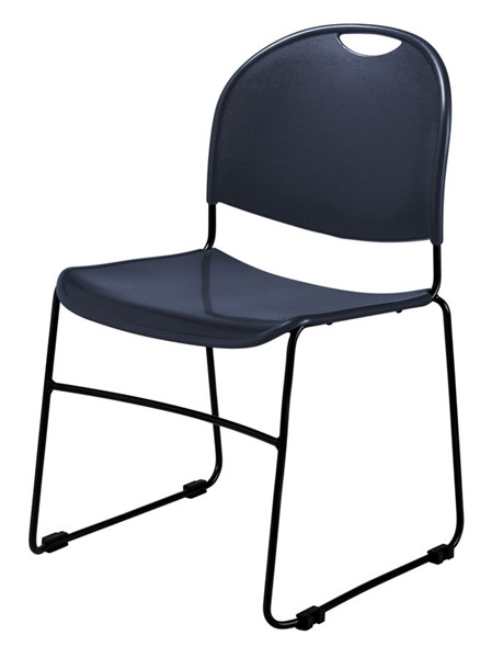NPS 850 Black Navy Blue Commercialine Ultra Compact Stack Chair NPS-855-CL