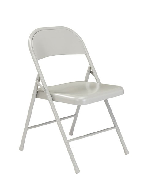 4 NPS 900 Grey Steel Commercialine Folding Chairs NPS-902