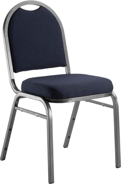 NPS 9200 Silvervein Midnight Blue Fabric Stack Chair NPS-9254-SV