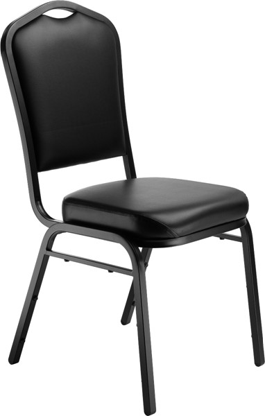NPS 9300 Sandtex Black Vinyl Stack Chair NPS-9310-BT