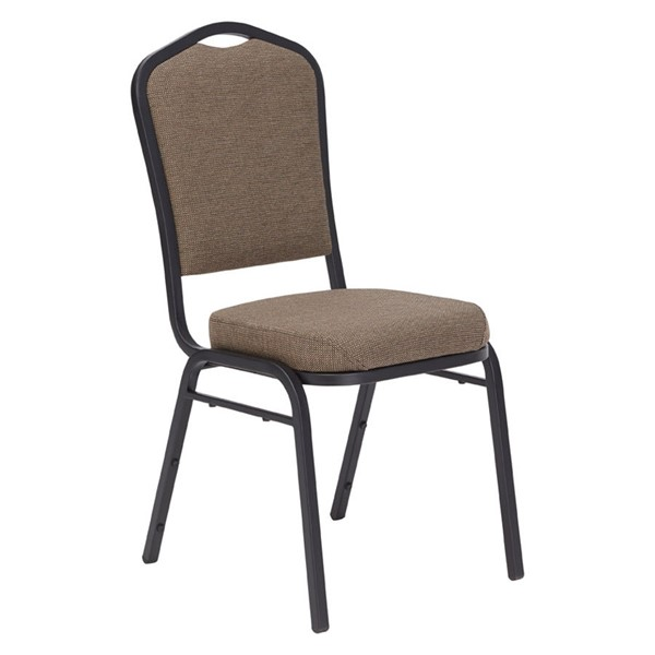 NPS 9300 Black Sandtex Natural Taupe Fabric Stack Chair NPS-9378-BT