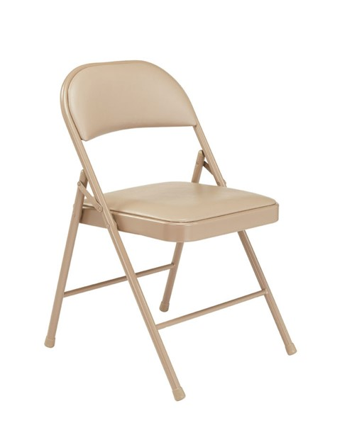 4 NPS 900 Beige Vinyl Commercialine Folding Chairs NPS-951