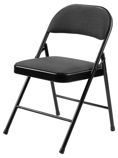 4 NPS 900 Star Trail Black Fabric Commercialine Folding Chairs NPS-970