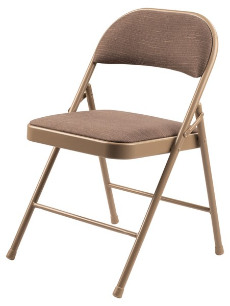 4 NPS 900 Star Trail Brown Fabric Commercialine Folding Chairs NPS-973