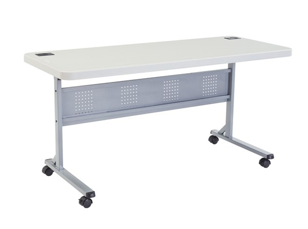 NPS BPFT Speckled Grey 60 Inch Training Table NPS-BPFT-2460