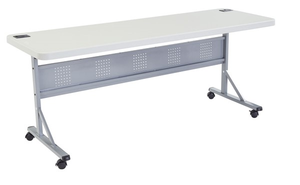 NPS BPFT Speckled Grey 72 Inch Training Table NPS-BPFT-2472