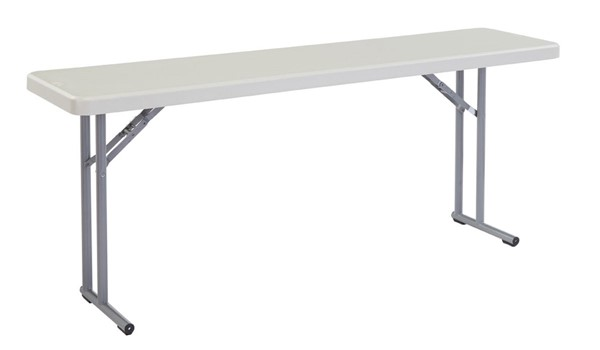 NPS BT1800 Speckled Grey 18x72 Folding Table NPS-BT1872