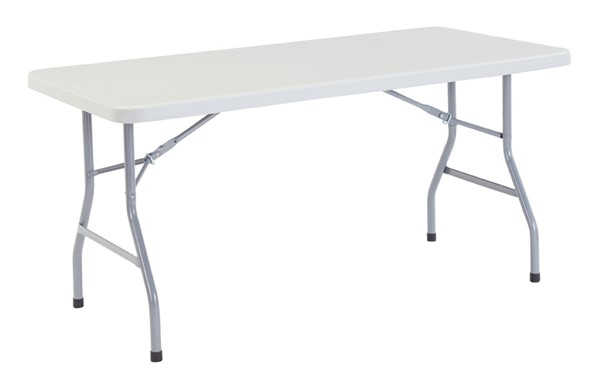 NPS BT3000 Speckled Grey Metal Folding Table NPS-BT3060