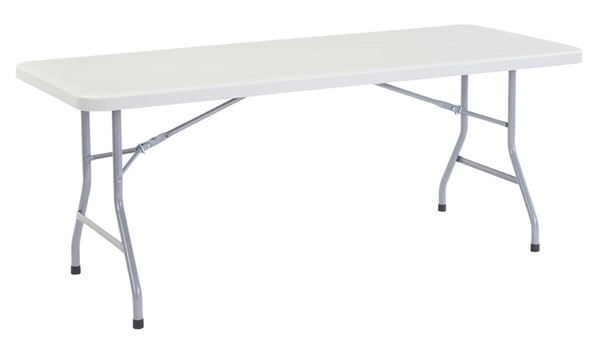 NPS BT3000 Speckled Grey Metal Havy Duty Folding Table NPS-BT3072