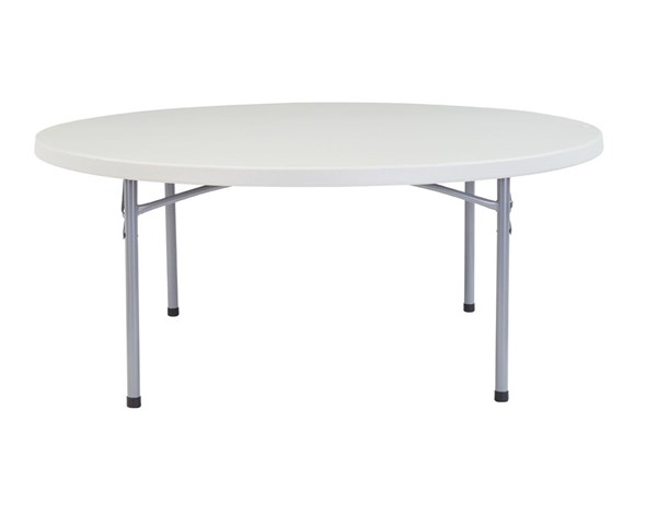 NPS BTR Speckled Grey 71 Inch Round Folding Table NPS-BT71R