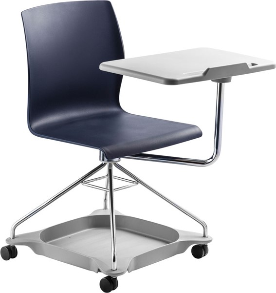 NPS Go Chrome Polypropylene Mobile Tablet Chairs NPS-COGO-HOF-CH-VAR