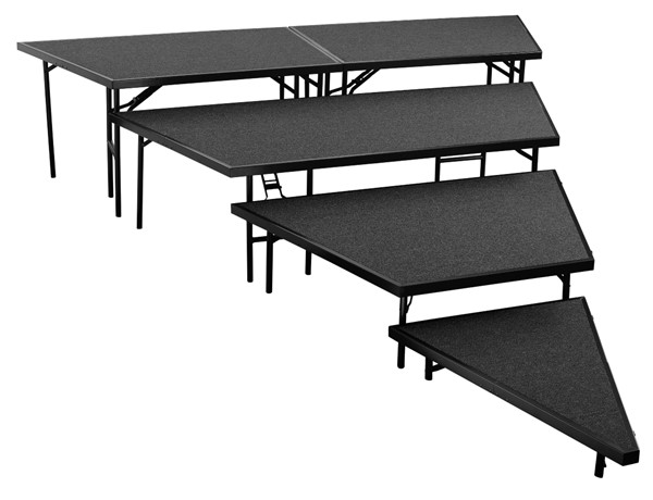 NPS Black 36 Inch 4 Tier Seated Riser Stage Pie Sections NPS-SPST36C-SP3632C-10