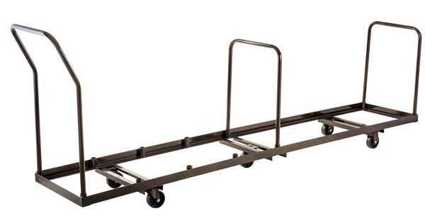 NPS Brown Metal Folding Chair Vertical Storage Dolly NPS-DY-50