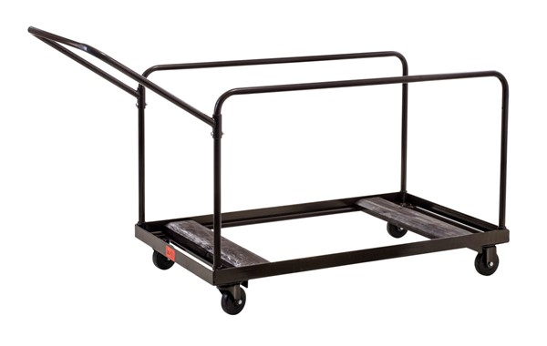 NPS Brown Round Folding Table Vertical Storage Dolly NPS-DY-60R