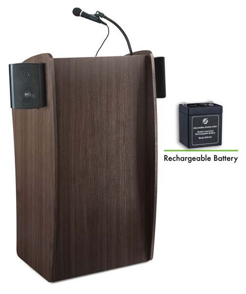 NPS Vision Ribbonwood Lectern with Sound and Rechargeable Battery NPS-M611S-RW