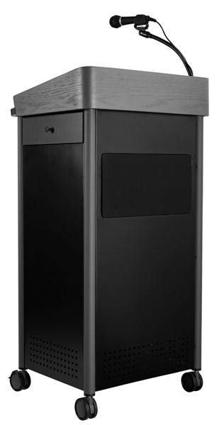 NPS GSL Charcoal Greystone Lectern with Sound and Rechargeable Battery NPS-MGSL-S