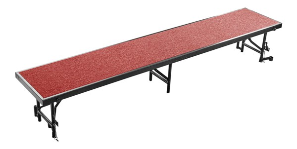 NPS Black Red 16 Inch Straight Standing Choral Riser NPS-RS16C-40