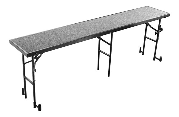 NPS Black Grey 32 Inch Straight Standing Choral Riser NPS-RS32C-02