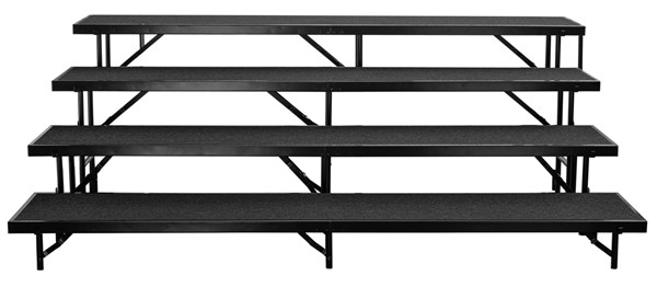 NPS Black 4 Level Straight Standing Choral Riser NPS-RS4LC-10