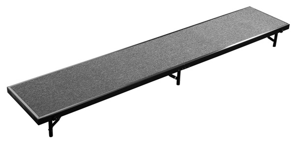 NPS 18x96 Straight Standing Choral Risers NPS-RS8C-DR-RSR-VAR