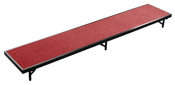 NPS Black Red 18x96 Straight Standing Choral Riser NPS-RS8C-40