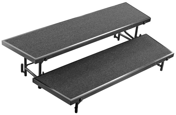 NPS Black 2 Level Tapered Standing Choral Riser NPS-RT2LC-10