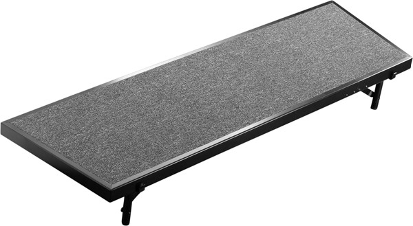 NPS Black Grey 18x60 Tapered Standing Choral Riser NPS-RT8C-02