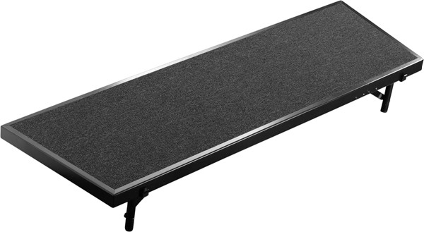 NPS Black 18x60 Tapered Standing Choral Riser NPS-RT8C-10