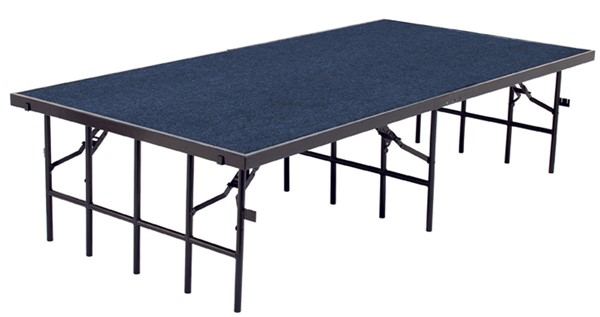 NPS Black Blue Playwood 16 Inch Carpet Stage NPS-S3616C-04
