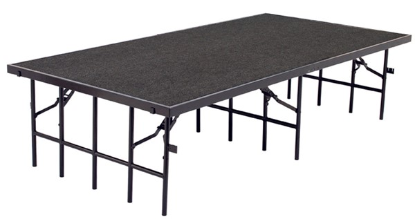 NPS Plywood Metal 32 Inch Carpet Stages NPS-S4832C-DR-STG-VAR
