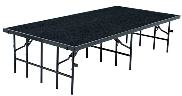 NPS Black Plywood Metal 32 Inch Carpet Stage NPS-S4832C-10