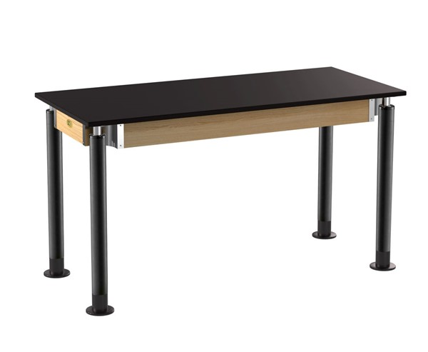 NPS Signature Black 24x54 Science Lab Table with Phenolic Top NPS-SLT4-2454P