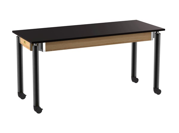 NPS Signature 24x60 Lab Tables with Chemical Resistant Top and Casters NPS-SLT4-2460CC-DESK-VAR