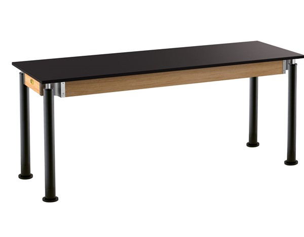 NPS Signature Black 24x72 Science Lab Table with Phenolic Top NPS-SLT4-2472P