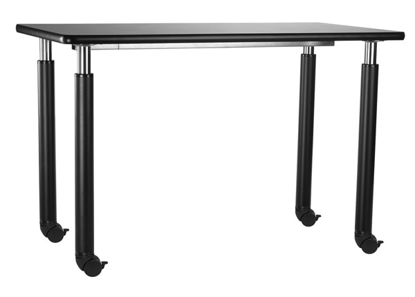 NPS Designer Black 24x60 Science Lab Table with HPL Top and Casters NPS-SLT6-2460HC