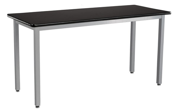 NPS SLT 9 Gray Black 24x60 Science Lab Table with HPL Top NPS-SLT9-2460H