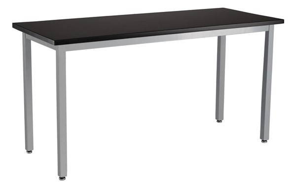 NPS SLT 9 Gray Black 24x60 Science Lab Table with Phenolic Top NPS-SLT9-2460P