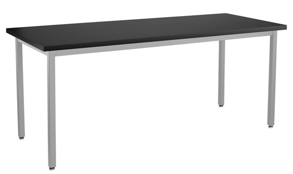 NPS SLT 9 Gray Black 30x72 Lab Table with Chemical Resistant Top NPS-SLT9-3072C