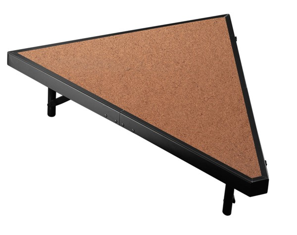 NPS Black Hardboard Floor Pie Compatible 8 Inch Carpet Stage NPS-SP368HB