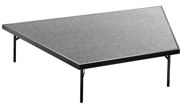 NPS Black Grey Wood Pie Compatible 16 Inch Carpet Stage NPS-SP4816C-02