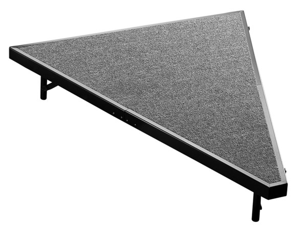 NPS Black Grey Wood Pie Compatible 8 Inch Carpet Stage NPS-SP488C-02