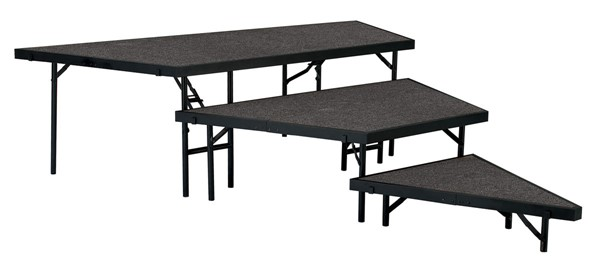 NPS 48 Inch 3 Level Carpet Stage Pie Sets NPS-SPST48C-02-DR-STG-VAR