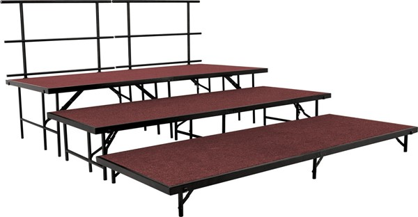 NPS Black Red 3 Inch Straight Carpet Stage Set NPS-SST36C-40