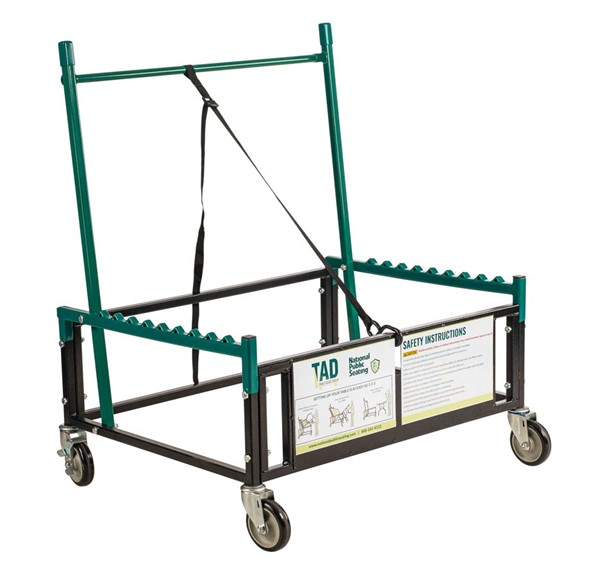 NPS Brown Metal Table Assist Dolly NPS-TAD