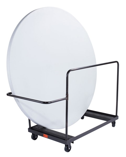 NPS Brown 71 Inch Round Folding Table Vertical Storage Dolly NPS-DY-71R