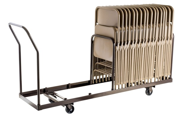 NPS Brown Folding Chair Vertical Storage Dolly NPS-DY-35