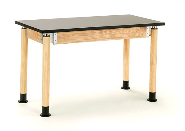 NPS Signature Oak Black 24x60 Science Lab Table with HPL Top NPS-SLT5-2460H