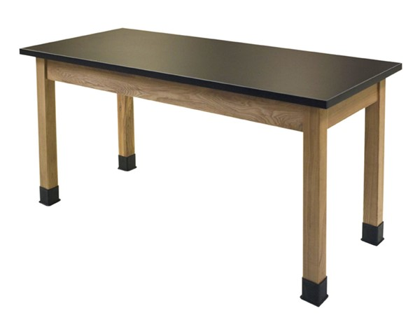 NPS Ash Black Trespa Top Science Lab Table - 30x60x30 NPS-SLT1-3060T